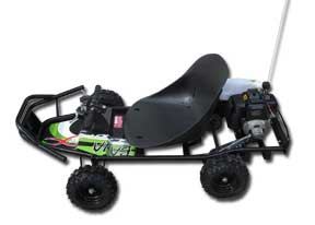 Power Kart 50 BAJA - Black/Green