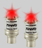 Neon Lighted Valve Caps - RED