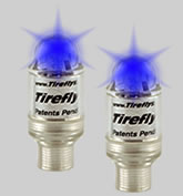 Neon Lighted Valve Caps - BLUE
